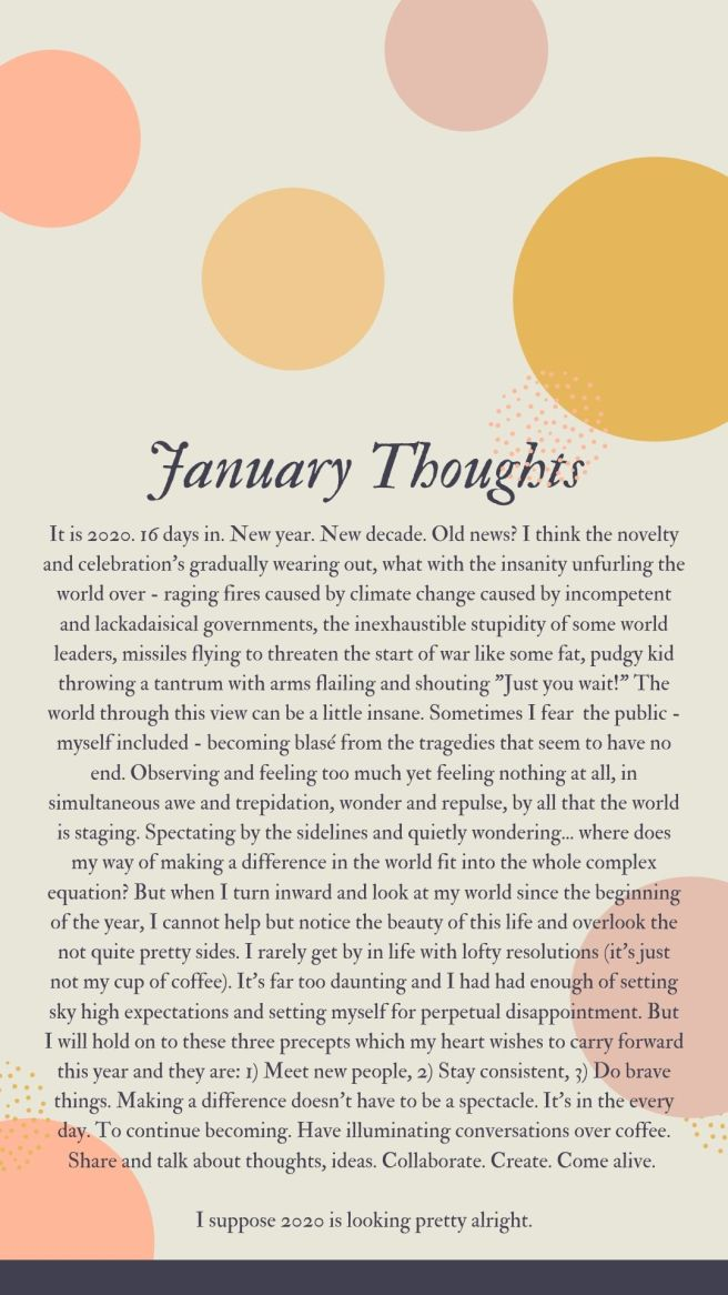 January Thoughts